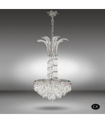 Classic bronze pendant lamp in 3 finishes with Asfour or Swarovski crystals - Samara - Riperlamp