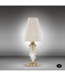 Classic table lamp in 3 finishes with Swarovski or Asfour crystals - Samara - Riperlamp