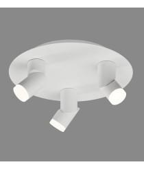 LED ceiling light made of metal and acrylic with 3 circular spotlights of 3200K - Nui - ACB Iluminación