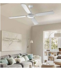 Ventilador silencioso blanco sin luz con regulador de pared - Eclectic - Massmi