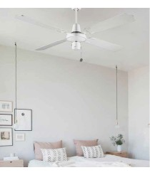 White ceiling fan without light - Massmi