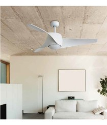 Noiseless ceiling fan with remote control and with a summer/winter function - Aero - Massmi Iluminación