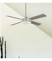 Grey ceiling fan with remote control - Square - Massmi