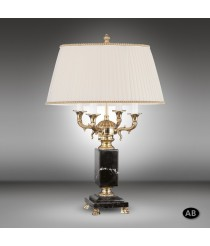 Table lamp with bronze column and marble base with 4 lights - Sobremesas 616T - Riperlamp