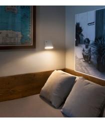 Aplique de pared moderno LED con pantalla orientable - Aurea - Faro