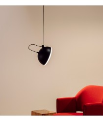 Black metal pendant lamp 1 light - Nod – Milan