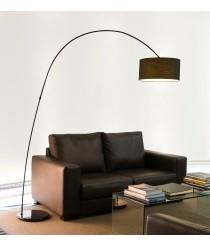 Lámpara de pie para salón con forma de arco en 2 colores - Papua - Faro