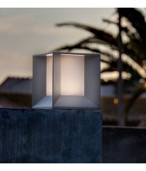 Dark grey LED post lamp – Mila – Faro