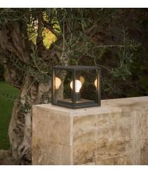 Dark grey square post lamp – Nala – Faro