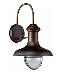 Rusty brown wall lamp available in two sizes – Estoril – Faro