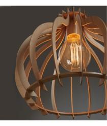 Wood pendant lamp 44 cm - Cuska - Exo - Novolux