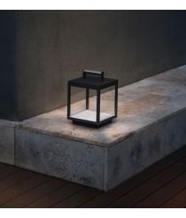 Dark grey classic portable LED lamp – Kerala – Faro