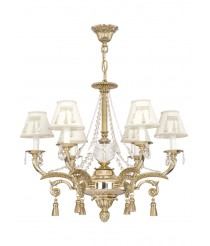 Pendant lamp with Asfour crystals and 6 lights - Duna - Riperlamp