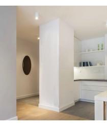 White finished steel ceiling light Ø 14.2 cm – Java – Indeluz - Novolux
