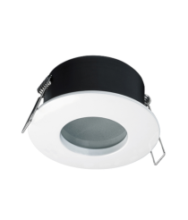 White finished steel and zamak recessed light Ø 8,5 cm IP 65 – Carpo Indeluz – Novolux