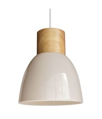 Ceramic and wood pendant lamp in 3 finishes – Wilma – IDP Lampshades