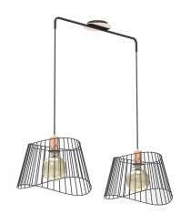Metal pendant light with 2 bulbs – Ocean – IDP Lampshades