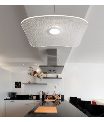 LED aluminum and crystal pendant lamp 3000K – Nae – Exo - Novolux