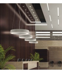LED aluminum and steel pendant lamp in 2 sizes 3000/4000K – Gho – Indeluz - Novolux