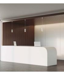 LED white aluminum pendant lamp in 3 finishes 3000K – Hidra – Indeluz - Novolux