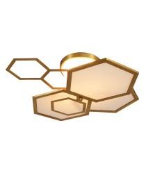 Aplique de techo de latón y cristal – Ramie – MYO