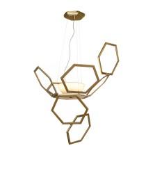 Lámpara colgante de latón con hexágonos sin cristal – Ramie – MYO