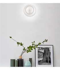 LED wall light indirect lighting four finishes - Circular - Pujol Lighting