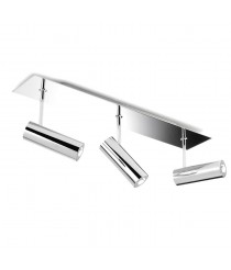 LED wall light with three lamps in various finishes - Tub - Pujol Iluminación