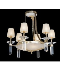 Natural Alabaster Stone Chandelier 6 Lights