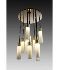Natural Alabaster Stone Chandelier 10 Lights