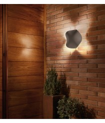 Stone grey LED exterior wall light - Cornet – Bover