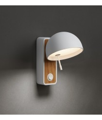 LED wall lamp with rotating screen - Beddy – Bover
