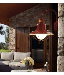 Classic style wall lamp available in green and burgundy - Newport – Faro
