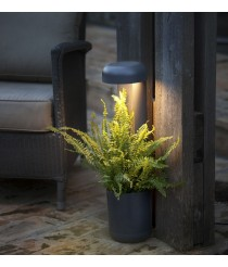 Lámpara LED baliza gris oscuro disponible en dos tamaños – Grow – Faro
