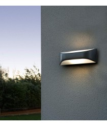 Wall lamp with dark grey futuristic shapes – View – Faro