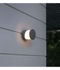 Grey cement wall lamp - Block - Faro