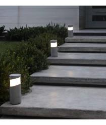Lámpara baliza gris cemento dos tamaños - Block – Faro