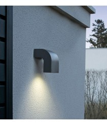 Dark grey wall lamp with 1 light - Klamp - Faro