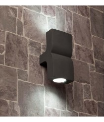 Dark grey wall lamp with 2 lights - Klamp - Faro