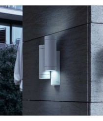 Double wall lamp available in white and grey - Steps – Faro