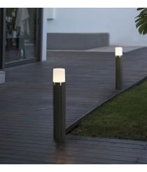 Lámpara baliza estilo urbano gris oscuro disponible en dos tamaños – Tram – Faro