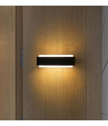 Dark grey LED wall lamp with rounded edge - Sticker - Faro