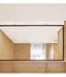 LED chrome finished aluminum bathroom light IP 44 4000K - Alin - Exo - Novolux