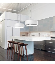 Pendant lamp with white opal glass shade - Inari – Bover