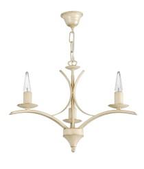 Lámpara colgante acabado dorado con 3 o 5 luces – Tarim – Artesanía Joalpa