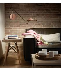Adjustable satin copper wall light - Nón Lá – Bover