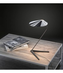 Chrome LED table lamp with proxy dimmer switch - Nón Lámpara – Bover