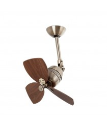 Ceiling fan without light, aged gold finish, adjustable inclination - Vedra – Faro