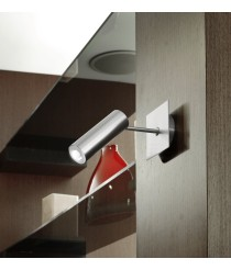 Nickel finish LED spotlight with rotating and swivelling screen - Tub - Pujol Illuminación