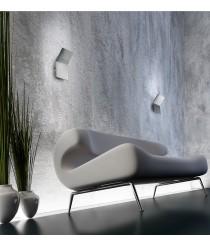 Aplique de pared LED en aluminio níquel mate 3000K - Plasma - Pujol Iluminación